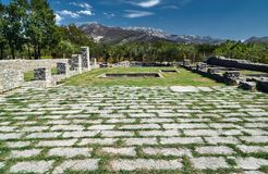 Stone ruins of the Roman city. Of Salona in Croatia Stock Photo