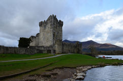 Stone Ruins of Ross Castle in Killarney Ireland Royalty Free Stock Photo