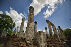 Stone ruins of royal palace Stock Photo
