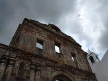 Stone Ruins of  Santo Domingo Church in Panama Stock Photo