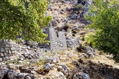 Stone ruins. In the mountains Royalty Free Stock Photos