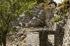 Stone ruins. In the mountains Royalty Free Stock Images