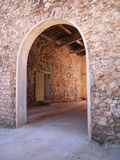 Stone rural house. Stone rural country house entrance, south of France Stock Photo