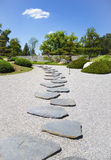 Stone's way. In the Japanese garden in sunny day Stock Photo