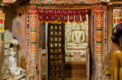 Stone sanctuary of 12th century Jain temples Royalty Free Stock Photography