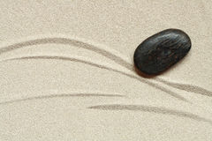 Stone On Sand Stock Image