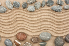 Stone with sand as background Royalty Free Stock Photos