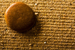 Stone and sand close up Royalty Free Stock Photo