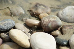 Stone in the sand. Few stones in the sand Royalty Free Stock Photo