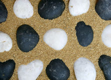 Stone in sand Royalty Free Stock Photography