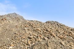 Stone sand heap Stock Images