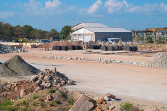 Stone and sand industry Royalty Free Stock Photo