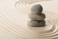 Stone on sand stock photos