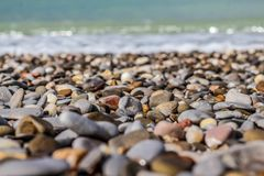 Stones on the sand stock photography