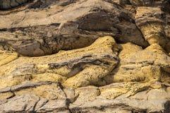 The stone - Sandstone. Background. Yellow loose stone stock photo