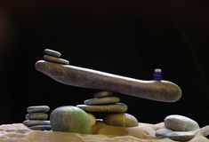 Stone scales of pebbles Stock Image