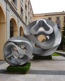 Stone sclupture modern art design  mexico city palace Stock Photo
