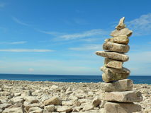 Stone sculpture. Stone stacked together to form stone sculpture royalty free stock photos