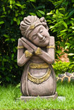 Stone sculpture of an asian lady Stock Image