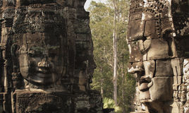 Stone sculpture in Bayon Wat,Siem Reip,Cambodia Royalty Free Stock Photography