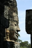 Stone sculpture in Bayon Wat,Siem Reip,Cambodia Stock Photos