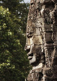 Stone sculpture in Bayon Wat,Siem Reip,Cambodia Stock Photography