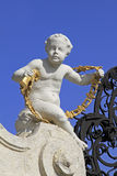 Stone sculpture at Belvedere castle Royalty Free Stock Image