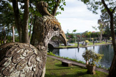 Stone sculpture bird of the Temple in Bali Tirta Gangga. Indonesia Stock Images