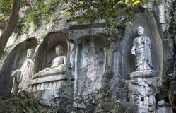 Stone sculpture of Buddha stock photo