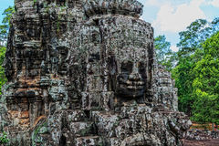 A stone sculpture of Buddha Royalty Free Stock Images
