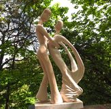 Sculpture Of Dancers In Sintra Portugal royalty free stock photo