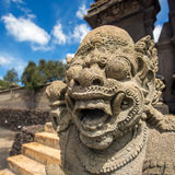 Stone sculpture on entrance of Bentar Candi, Bromo Volcano Stock Image