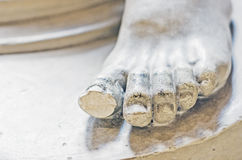 Gypsum statue - foot Stock Image
