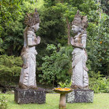 Stone sculpture in garden . Island Bali, Ubud, Indonesia Stock Images
