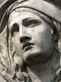 Stone sculpture of a grieving woman Royalty Free Stock Images