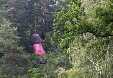 Stone sculpture on a hillside Sinyuha. Altai Krai Stock Photo