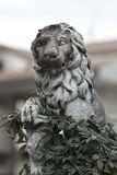 Stone sculpture of a lion Royalty Free Stock Photos