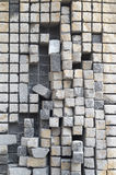 Stone cubes  sculpture. A sculpture made with little stone cubes Royalty Free Stock Images