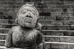 Stone sculpture of man from  temple Cetho, Jawa, Indonesia. Stone sculpture of man from hindu temple Cetho, Jawa, Indonesia Stock Image