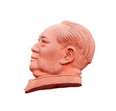 Stone sculpture of Mao Zedong. Isolated on white background Royalty Free Stock Photo