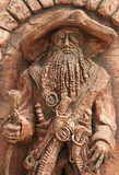 Stone sculpture of one-eyed pirate outdoor in Khosta, Russia Royalty Free Stock Photo