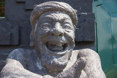 Stone sculpture representing the old man Royalty Free Stock Image