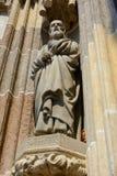 Stone sculpture of Saint Joseph Stock Photo
