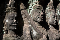 Stone sculpture at Siem Reap Angkor thom Stock Image