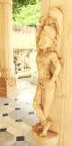 Stone sculpture in Srisodha rani Garden Palace jaipur. Stock Photos