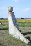 Stone Sculpture in Summer Fields Stock Photos