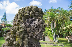 Stone sculpture in the temple yard close up Royalty Free Stock Images