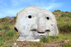 Stone Sculpture on Vesuvius Volcano Italy Royalty Free Stock Images