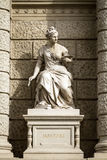 Stone sculpture of a woman in the the center of Vienna, Austria Stock Photography