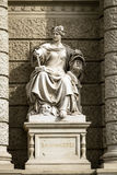 Stone sculpture of a woman in the the center of Vienna, Austria Stock Photo